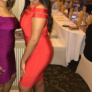 """Wow Couture """"Red"""" Bandage Dress! Worn once."""